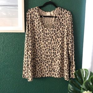 Chico's Leopard 🐆Long Sleeve Blouse